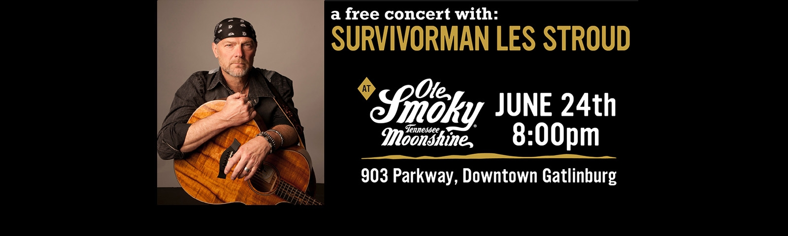 Concert with Survivorman Les Stroud