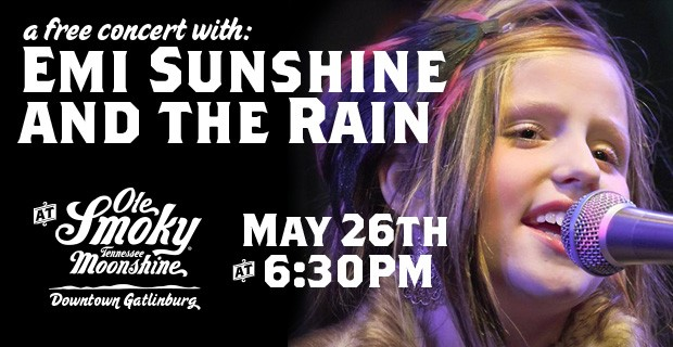 Emi Sunshine and The Rain Announce Memorial Day Performance at Ole Smoky Moonshine Distillery