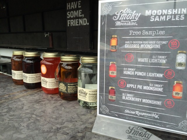 Delicious Moonshine Samples!