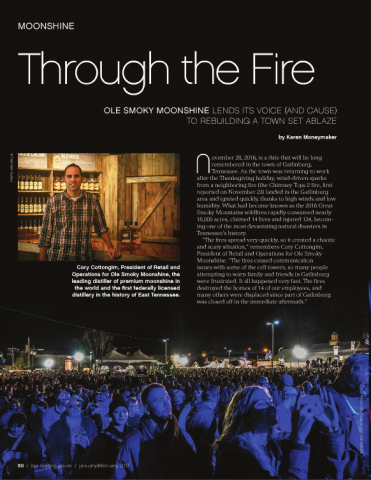 Through the Fire | OLE SMOKY MOONSHINE LENDS ITS VOICE (AND CAUSE) TO REBUILDING A TOWN SET ABLAZE