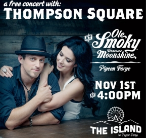 FREE CONCERT WITH THOMPSON SQUARE ON NOV 1ST!