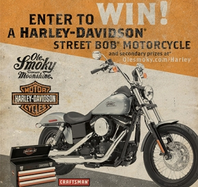 Enter to Win a Harley-Davidson Street Bob® Motorcycle and More!