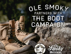BOOT CAMPAIGN BECOMES OFFICIAL CHARITY PARTNER OF OLE SMOKY® TENNESSEE MOONSHINE