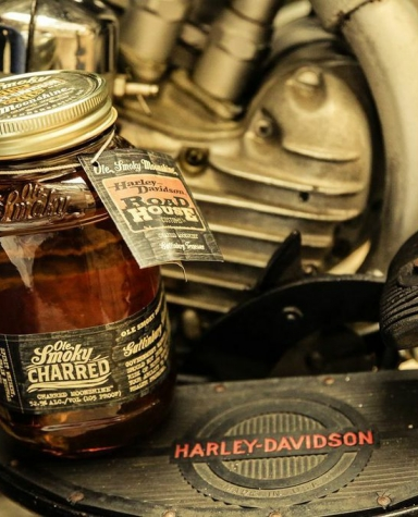Ole smoky tennessee moonshine is the official moonshine of harley